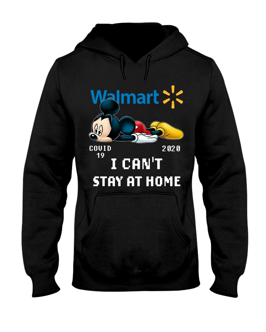 mickey mouse i cant stay home walmart covid 19 20202 hoodie