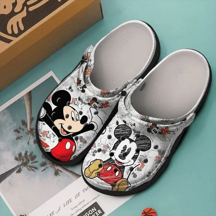 mickey mouse painting crocband clog 1 - Copy (2)