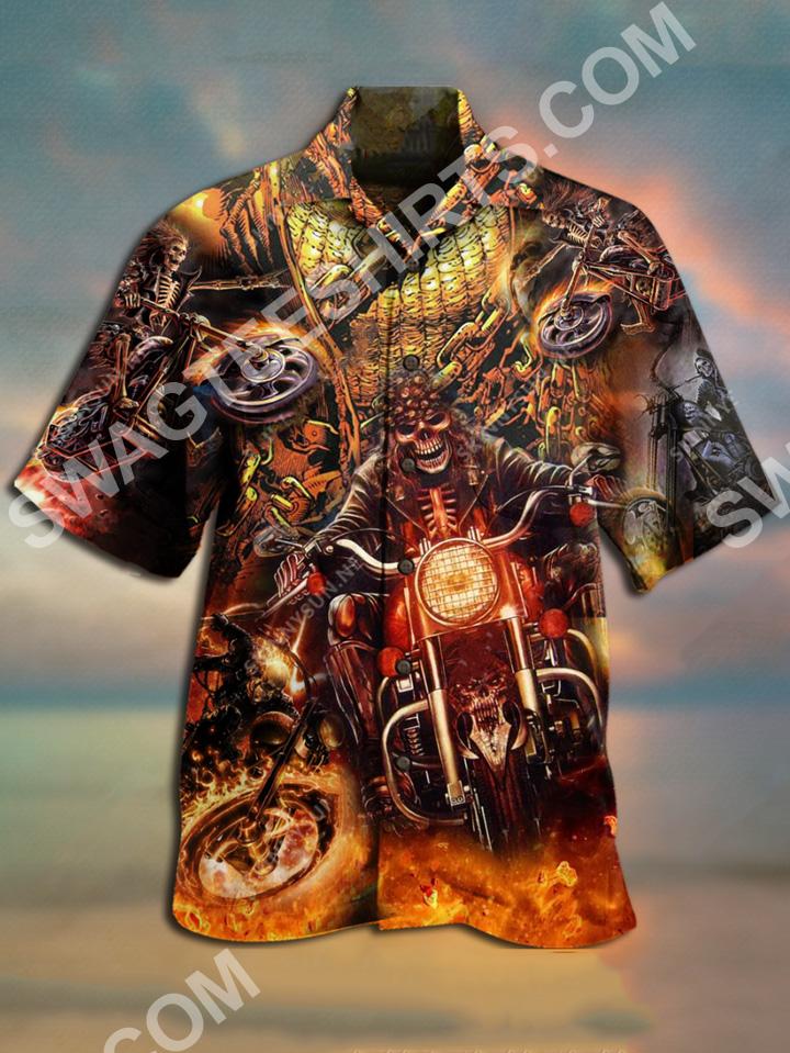 motorcycles skull all over printed hawaiian shirt 2(1)