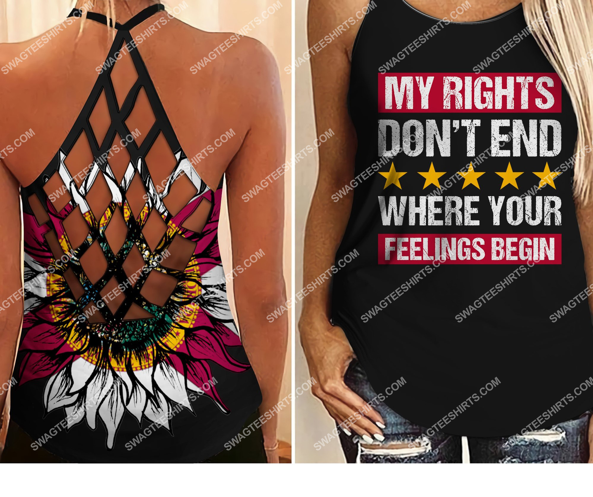 my rights don't end where your feelings begin all over printed strappy back tank top 2 - Copy (2)