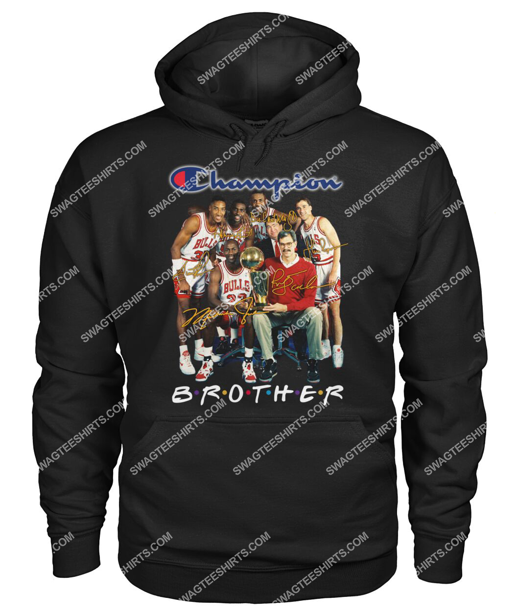nba chicago bulls champions brother signatures hoodie 1
