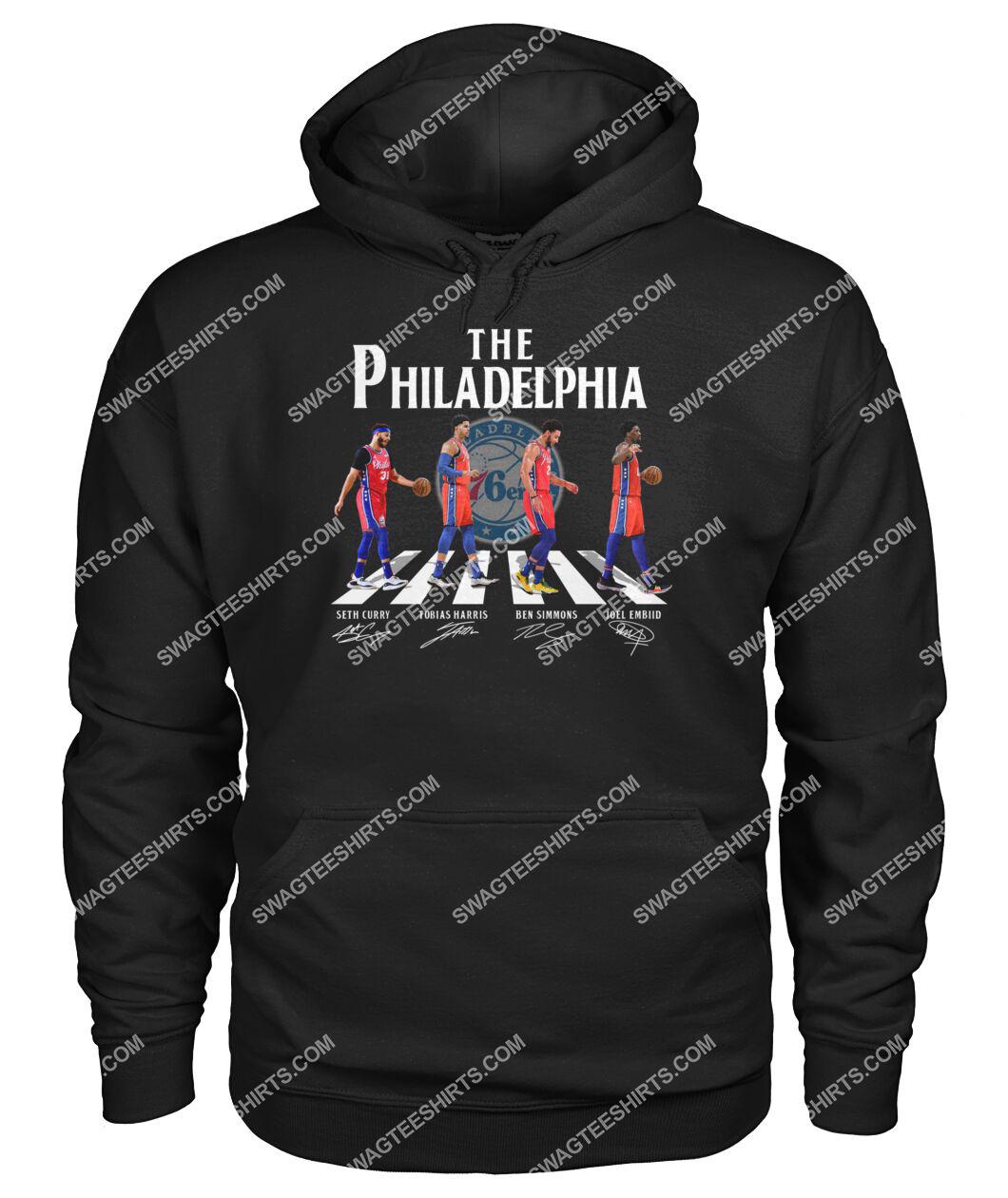 nba philadelphia 76ers signatures abbey road hoodie 1
