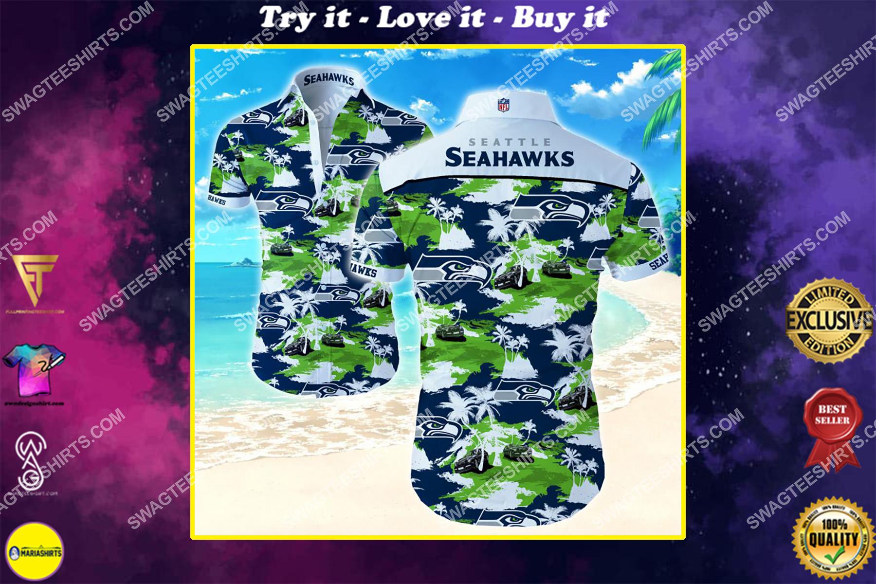 nfl seattle seahawks all over print hawaiian shirt