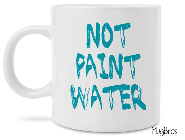 not paint water watercolor art coffee mug 2