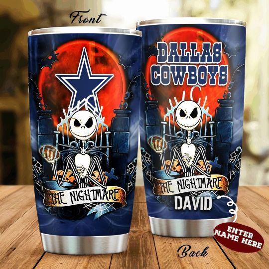personalized name jack skellington and dallas cowboys tumbler 1 - Copy (2)