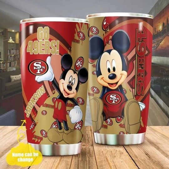 personalized name mickey mouse and san francisco 49ers tumbler 1 - Copy (2)