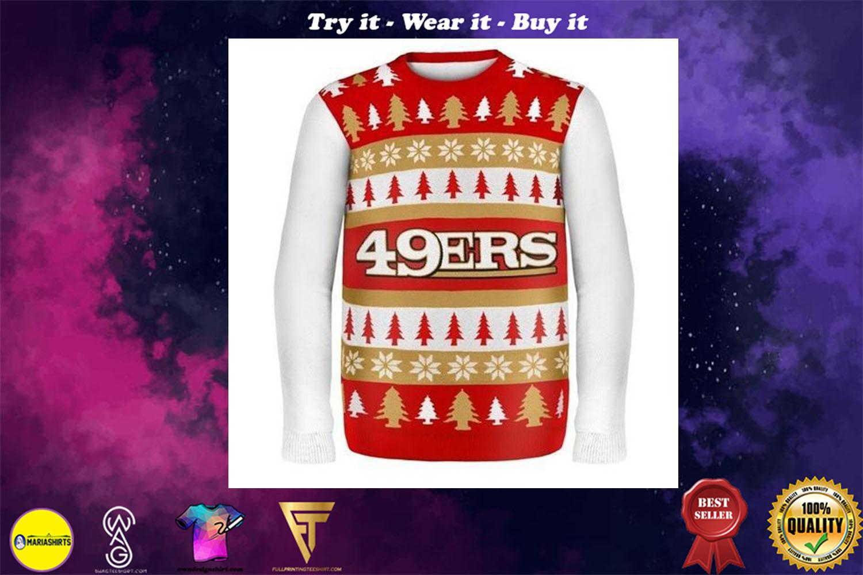 san francisco 49ers word mark ugly christmas sweater