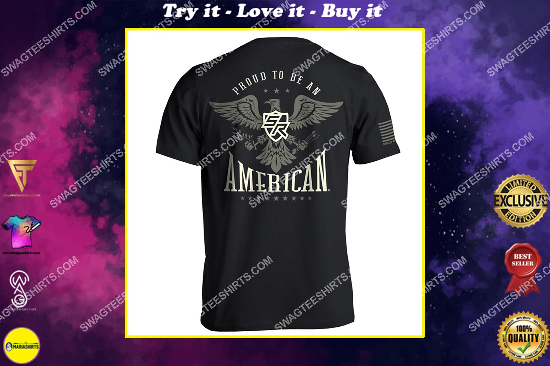 shield republic proud to be an american political shirt