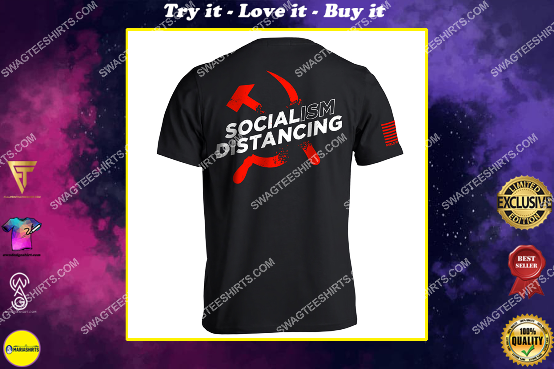 socialism distancing anti socialism political full print shirt
