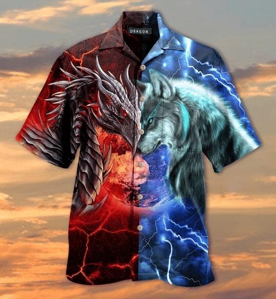 spirit of a dragon heart of a wolf all over printed hawaiian shirt 5