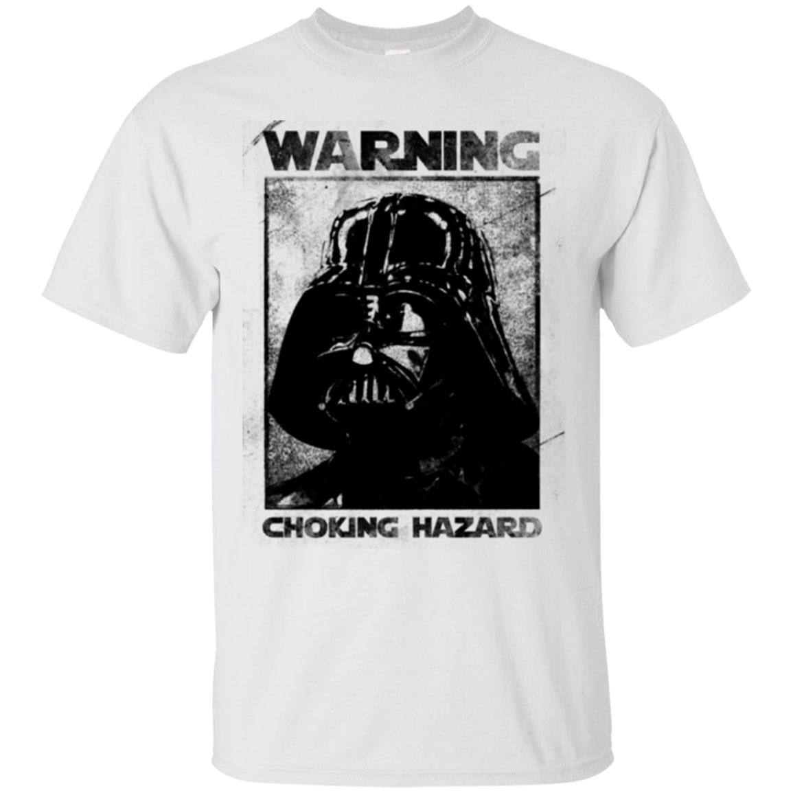 star wars darth vader warning choking hazard shirt 1