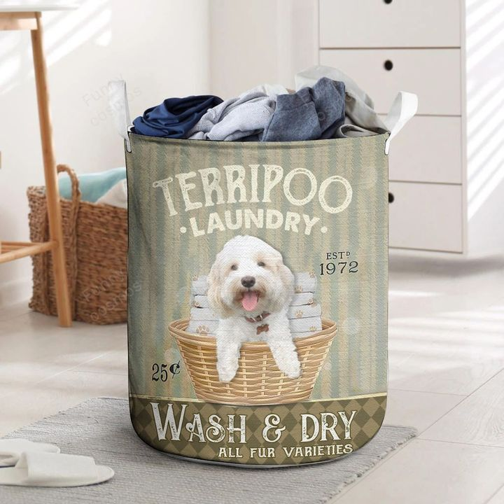 terri poo wash and dry all over printed laundry basket 2