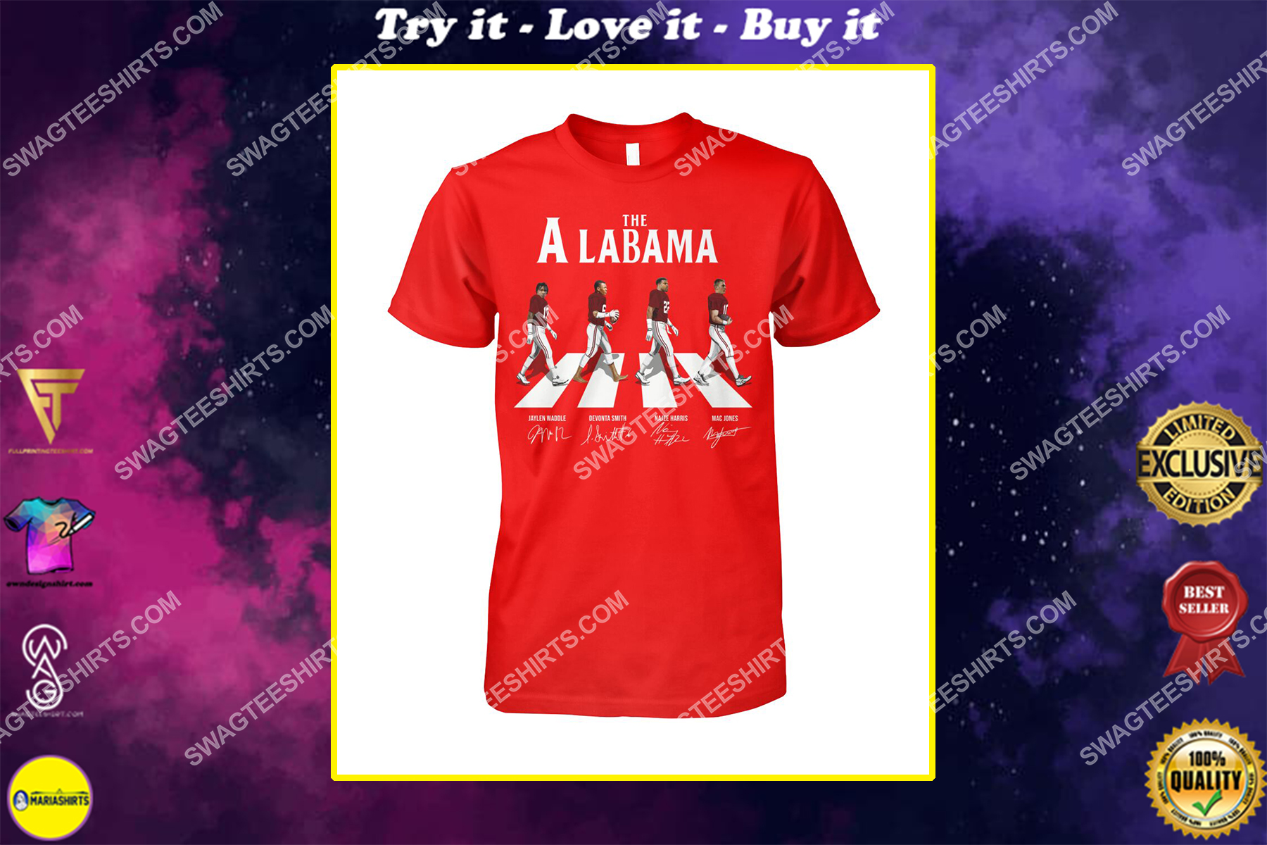 the alabama crimson tide football signatures abbey road shirt