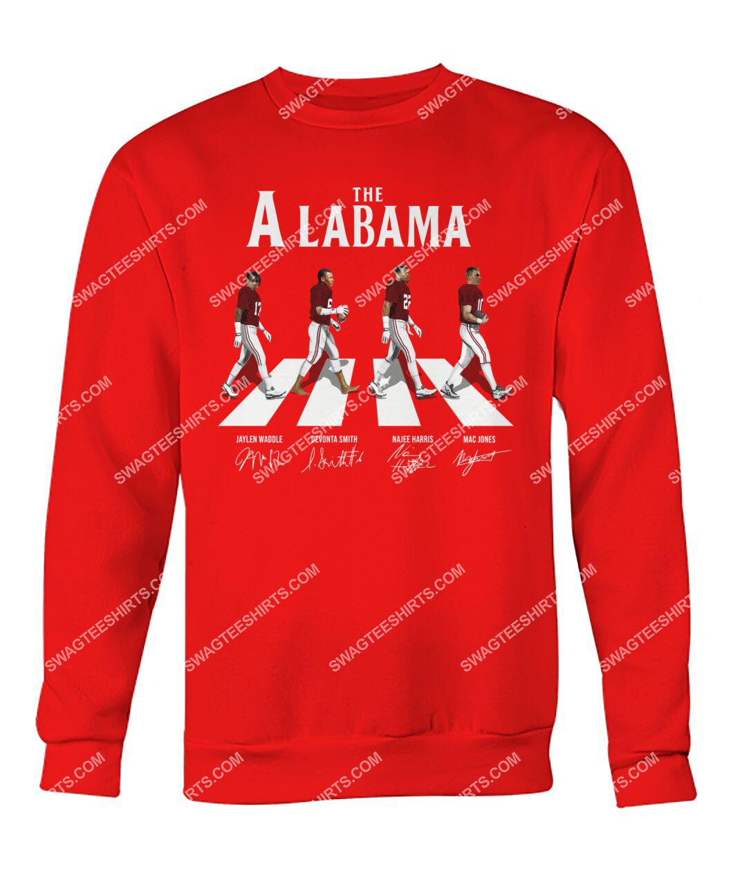 the alabama crimson tide football signatures abbey road sweatshirt 1