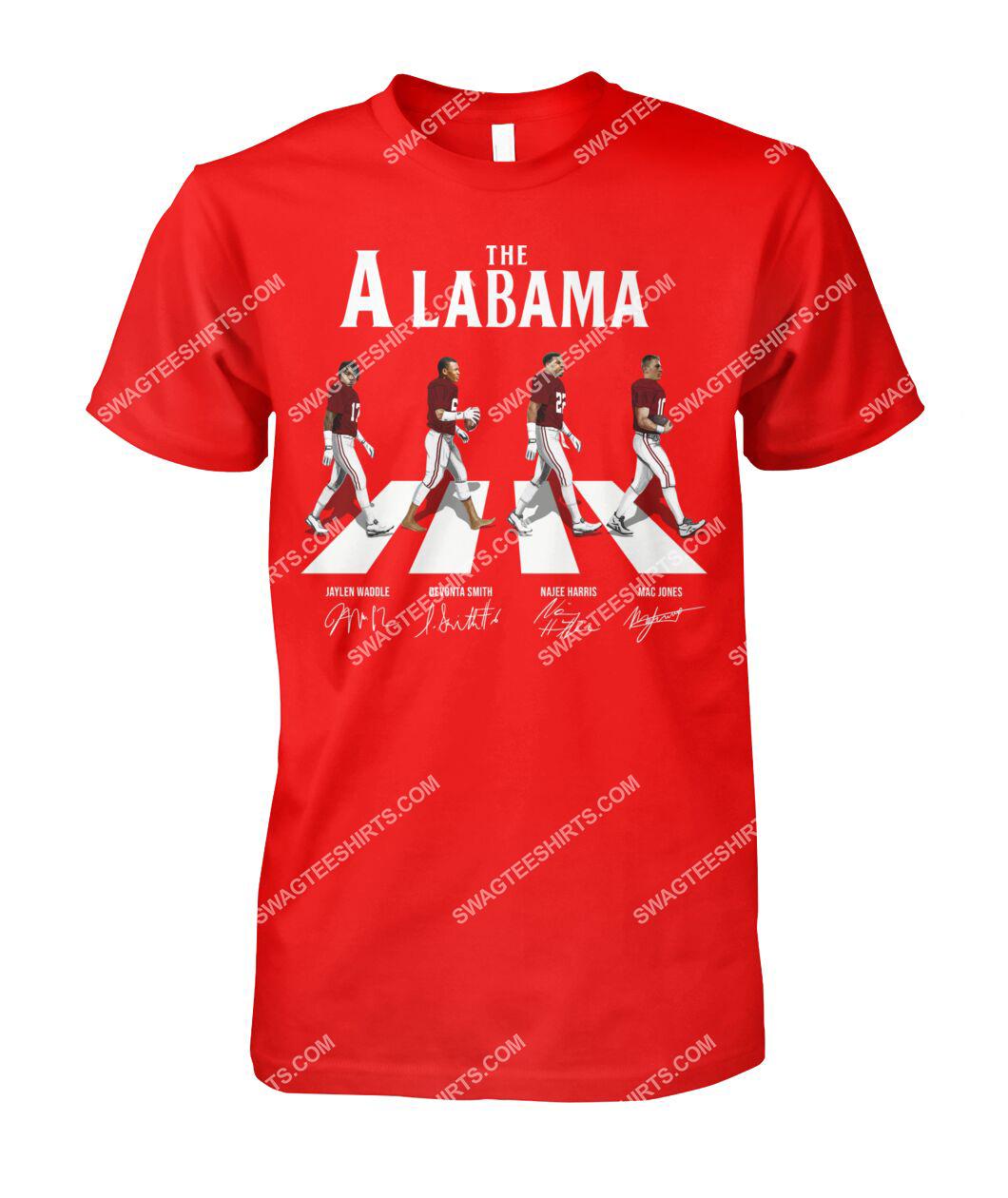 the alabama crimson tide football signatures abbey road tshirt 1