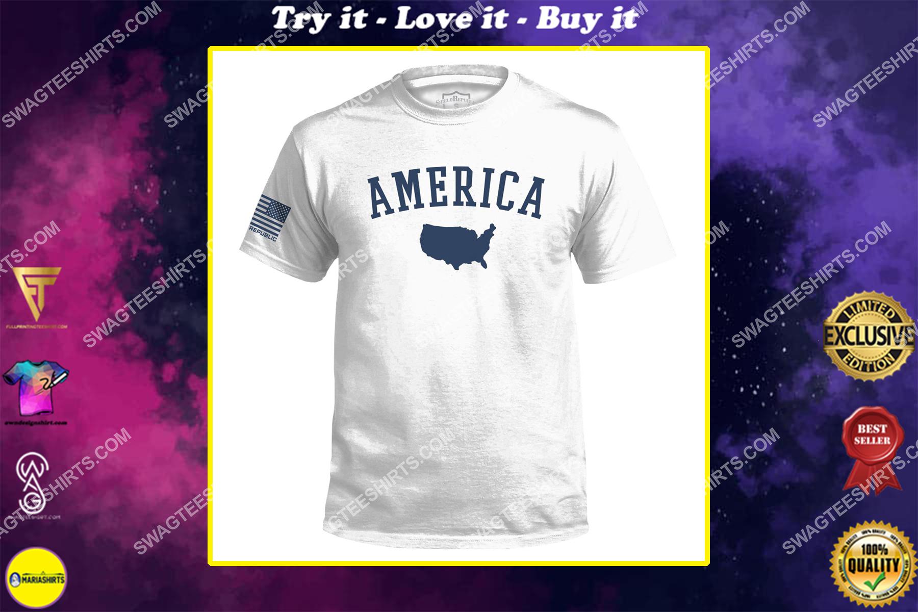 the america map political full print shirt