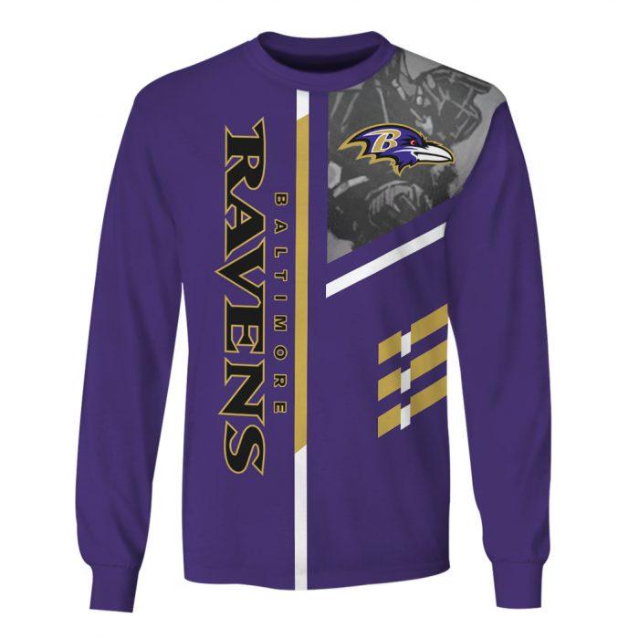 the baltimore ravens team full over printed sweatshirt