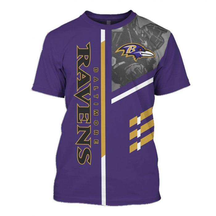 the baltimore ravens team full over printed tshirt