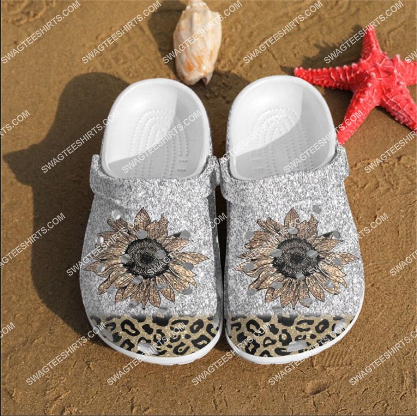 the cheetah flowers all over printed crocs crocband clog 2 - Copy