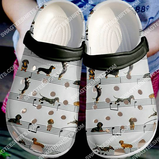 the dachshund dogs lover all over printed crocs 2
