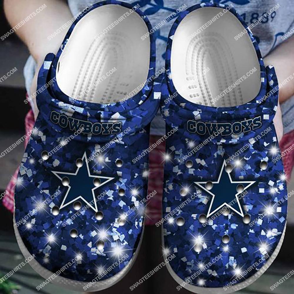 glitter dallas cowboys football team crocband clog 1 - Copy (2)