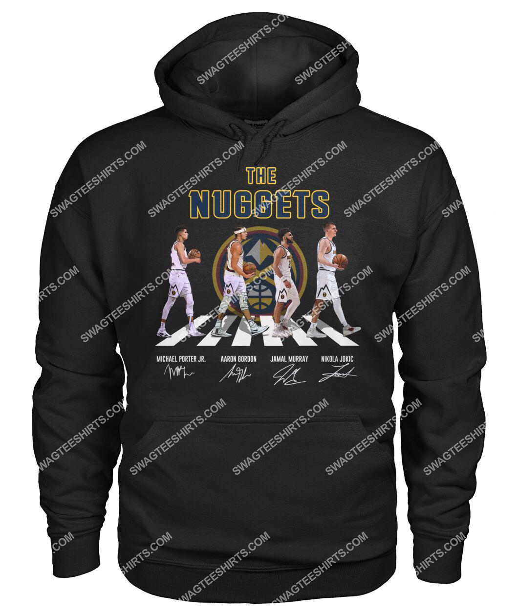 the denver nuggets walking abbey road hoodie 1