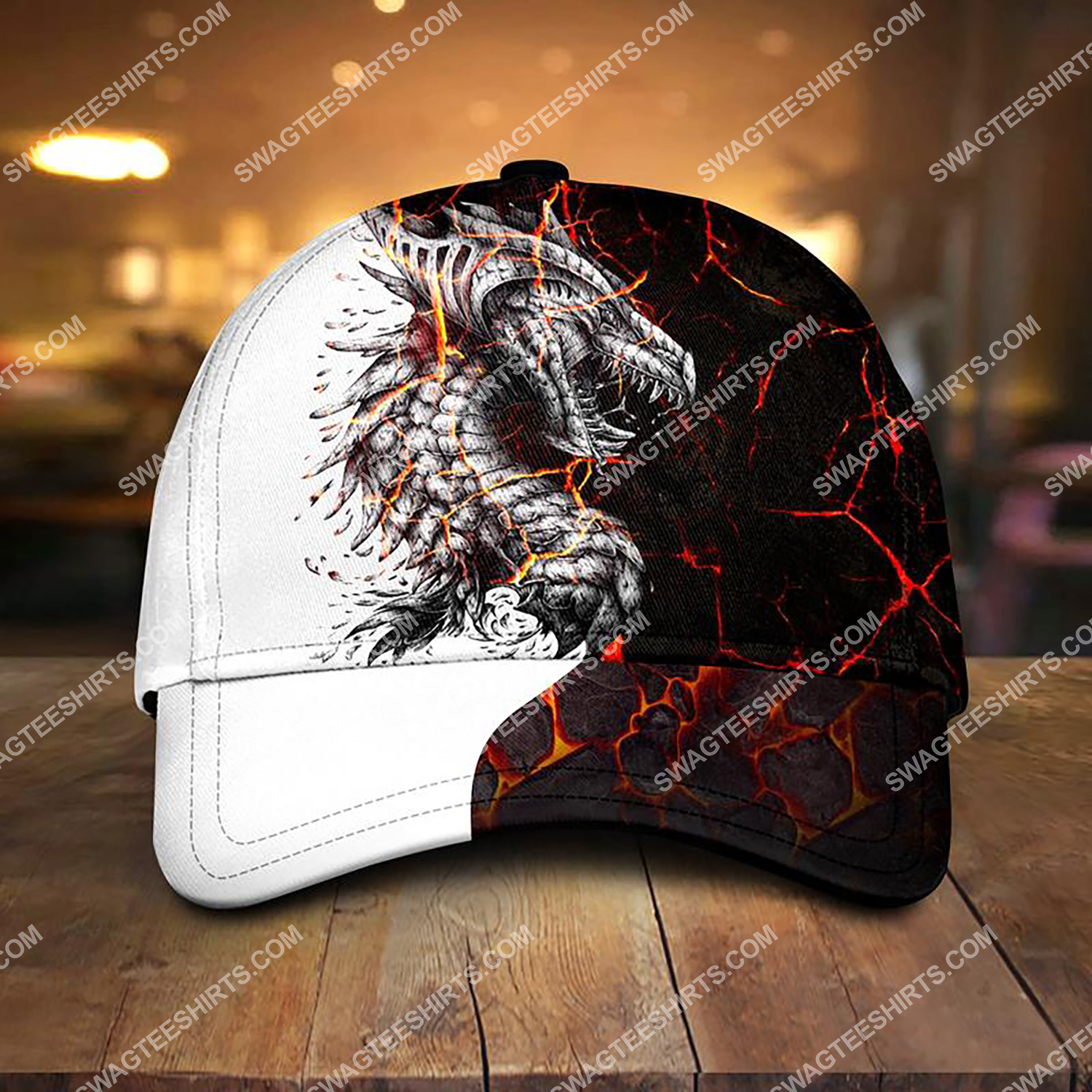 the dragon and fire all over printed classic cap 3 - Copy (2)