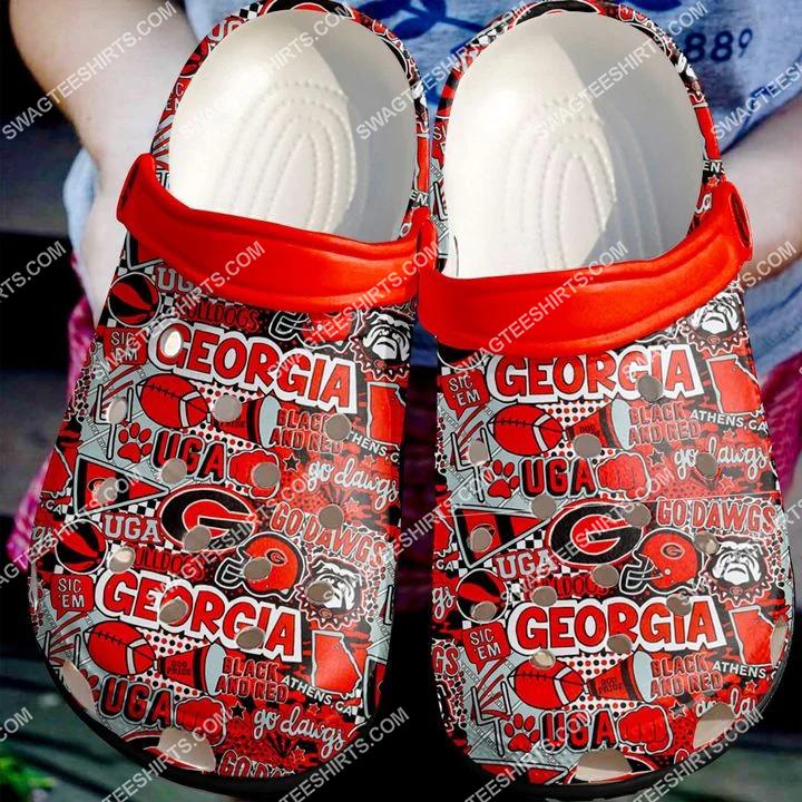 the georgia bulldogs football all over printed crocs crocband clog 2