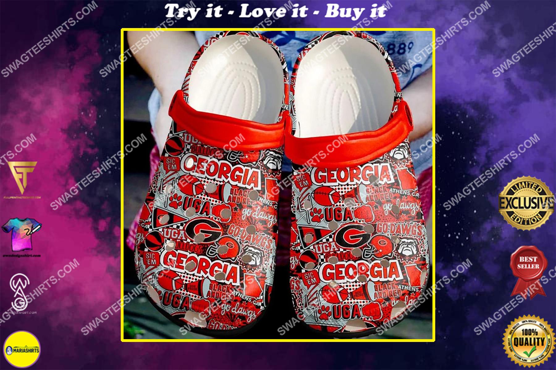 the georgia bulldogs football all over printed crocs crocband clog