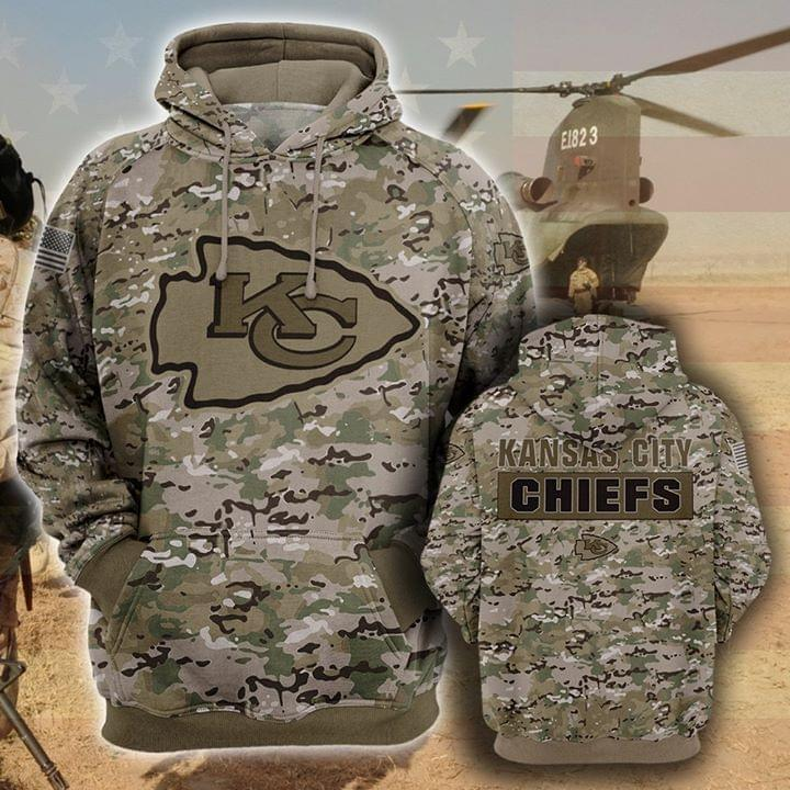 the kansas city chiefs camouflage veteran full over printed hoodie 1