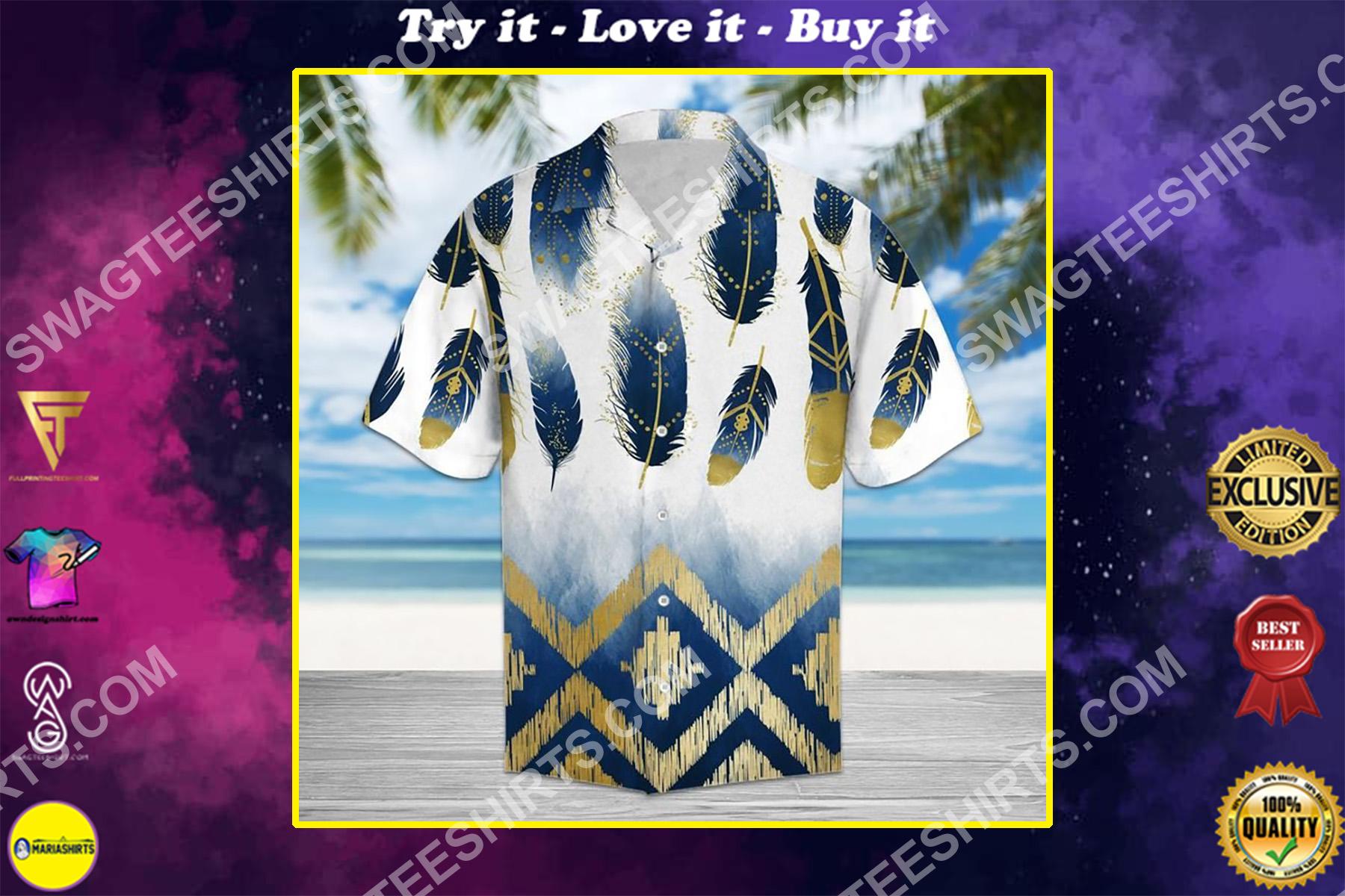 the native american all over printed hawaiian shirt