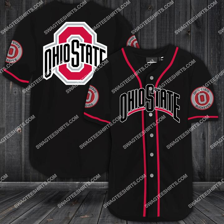 the ohio state buckeyes football team full printing baseball jersey 1(2) - Copy