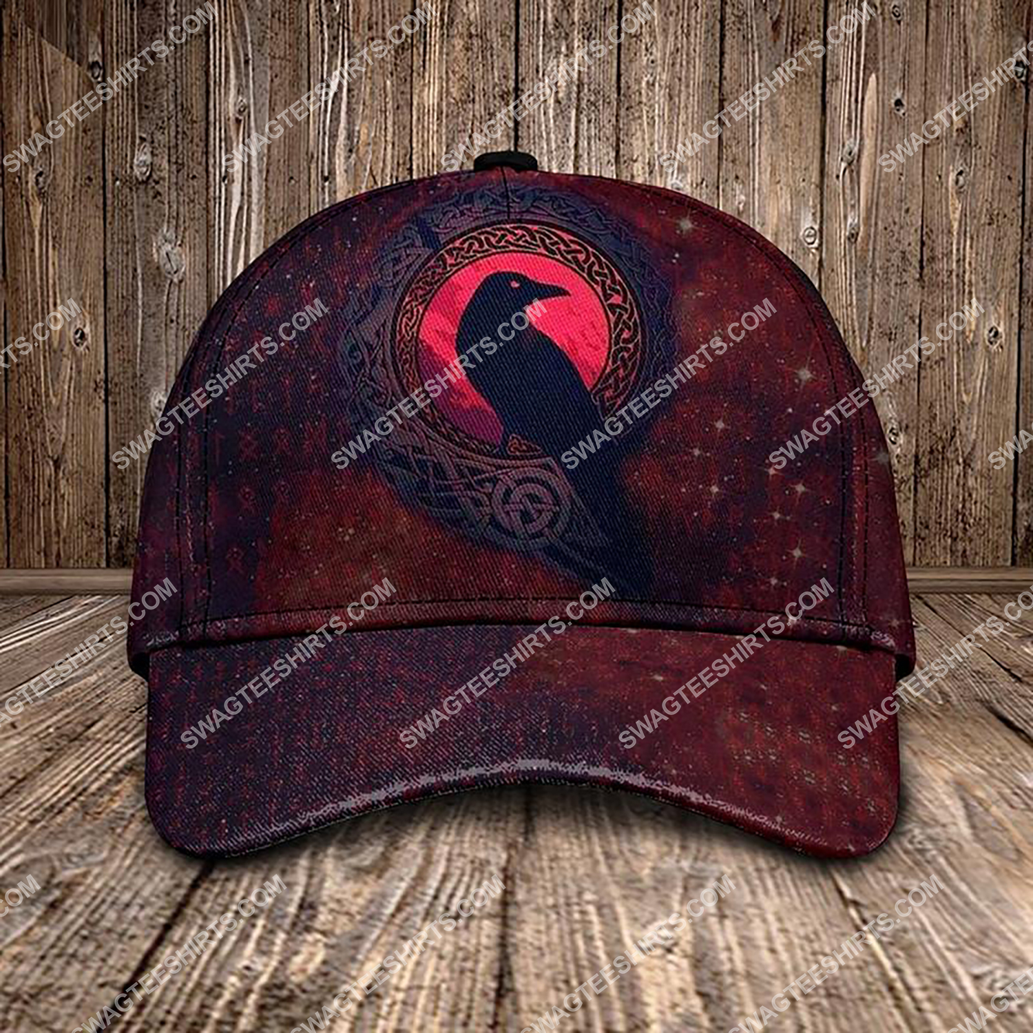 the raven viking all over printed classic cap 3 - Copy (2)