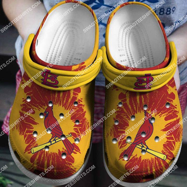 the st louis cardinals all over printed crocs crocband clog 2