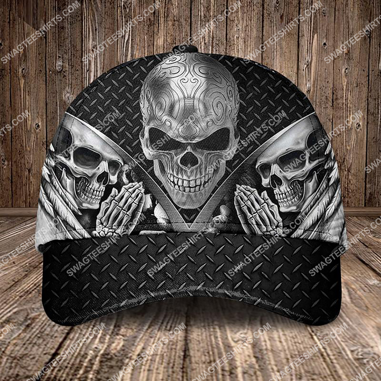 the sugar skull pray all over printed classic cap 3 - Copy (2)