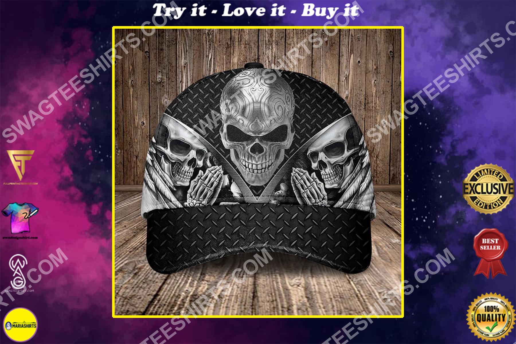 the sugar skull pray all over printed classic cap