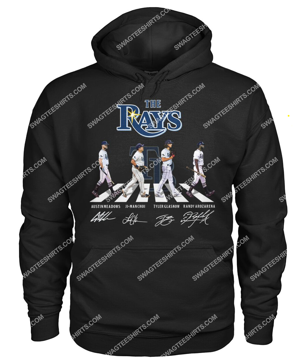 the tampa bay rays walking abbey road hoodie 1