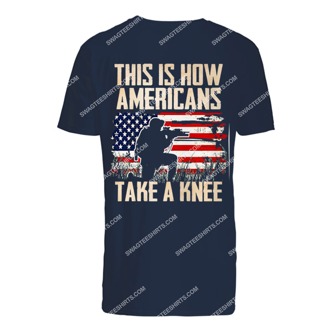 this is how americans take a knee veterans day tshirt 1