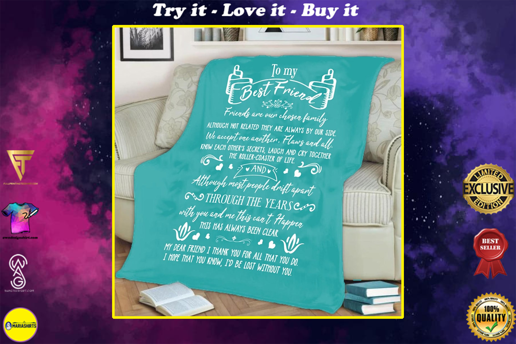 to my best friend friends are our chosen family blanket