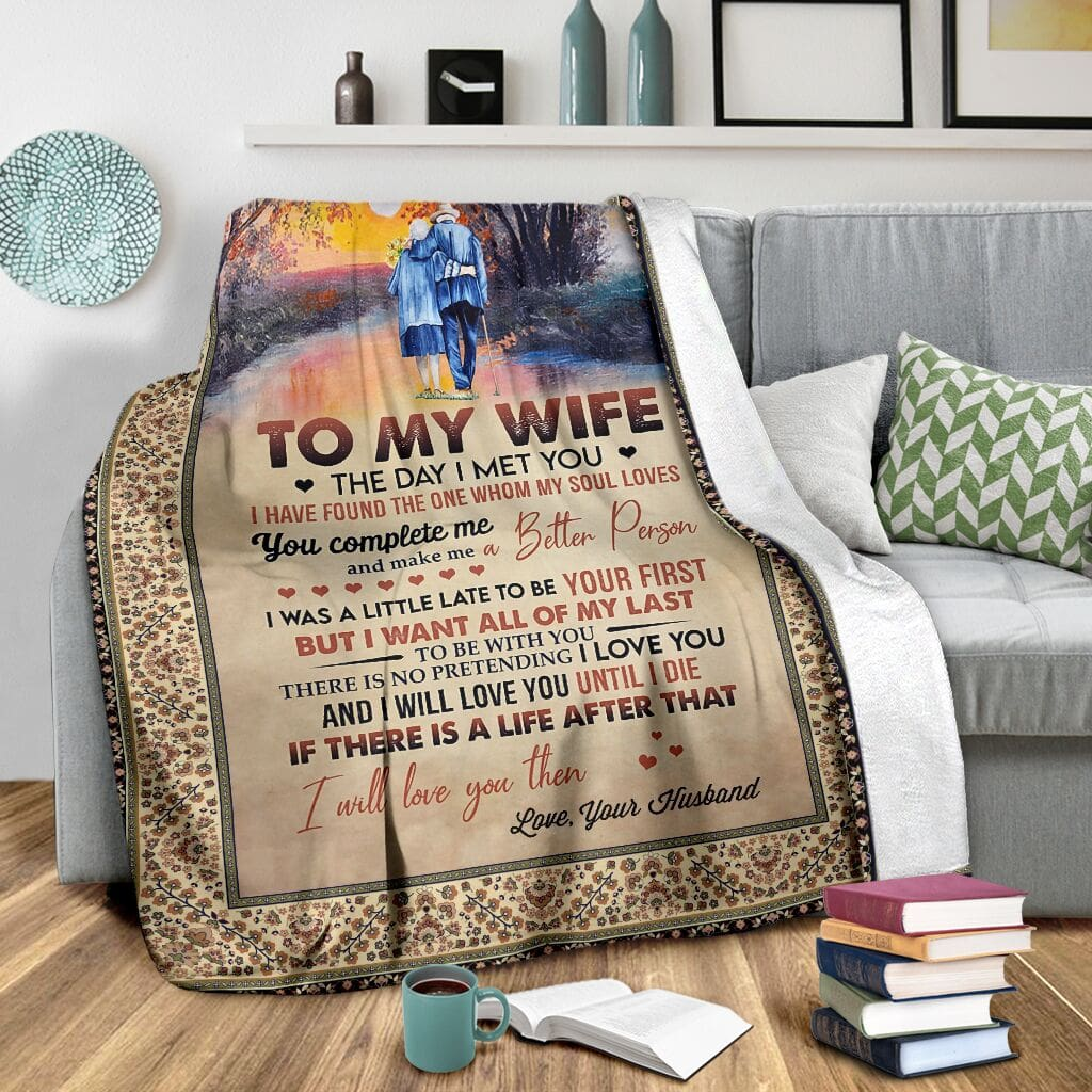 to my wife the day i met you i have found the one whom my soul loves full printing blanket 3