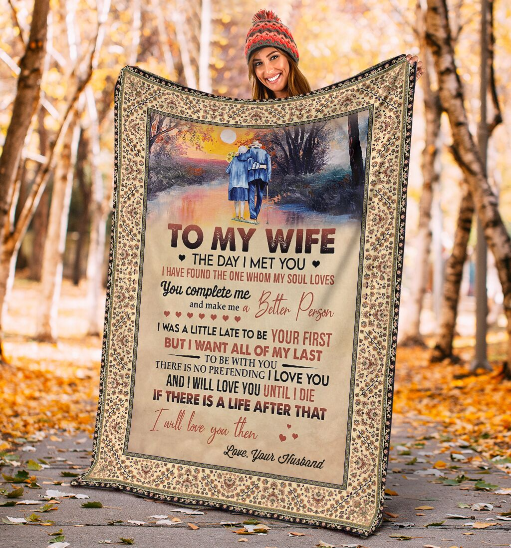 to my wife the day i met you i have found the one whom my soul loves full printing blanket 4