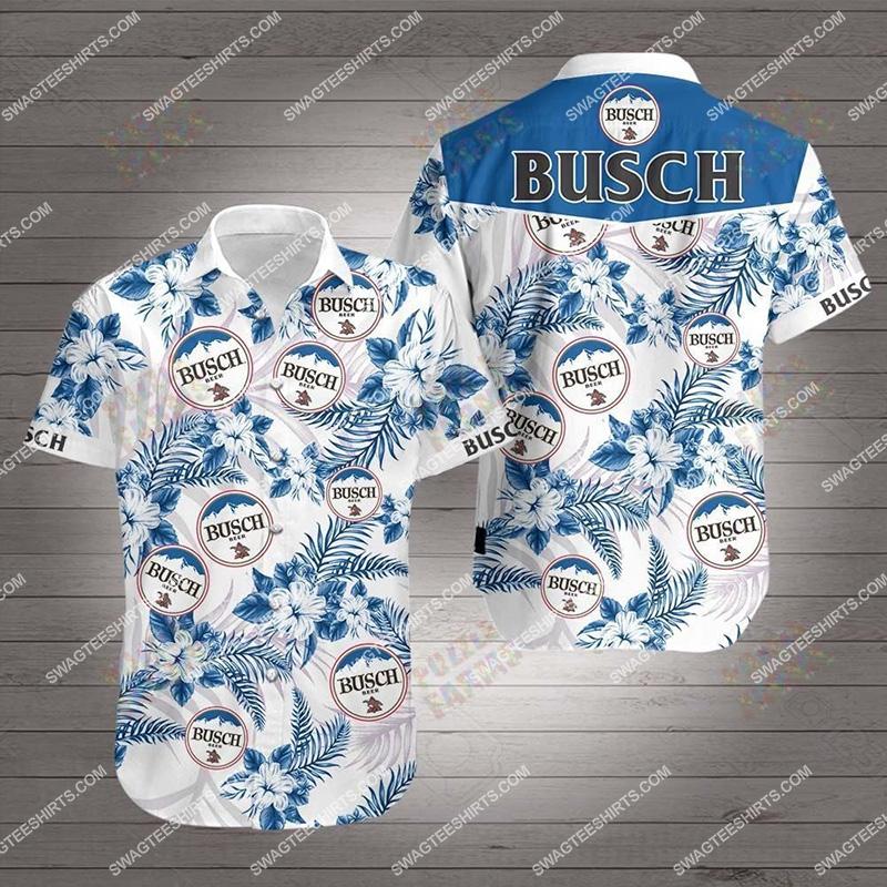 tropical busch beer all over print hawaiian shirt 2