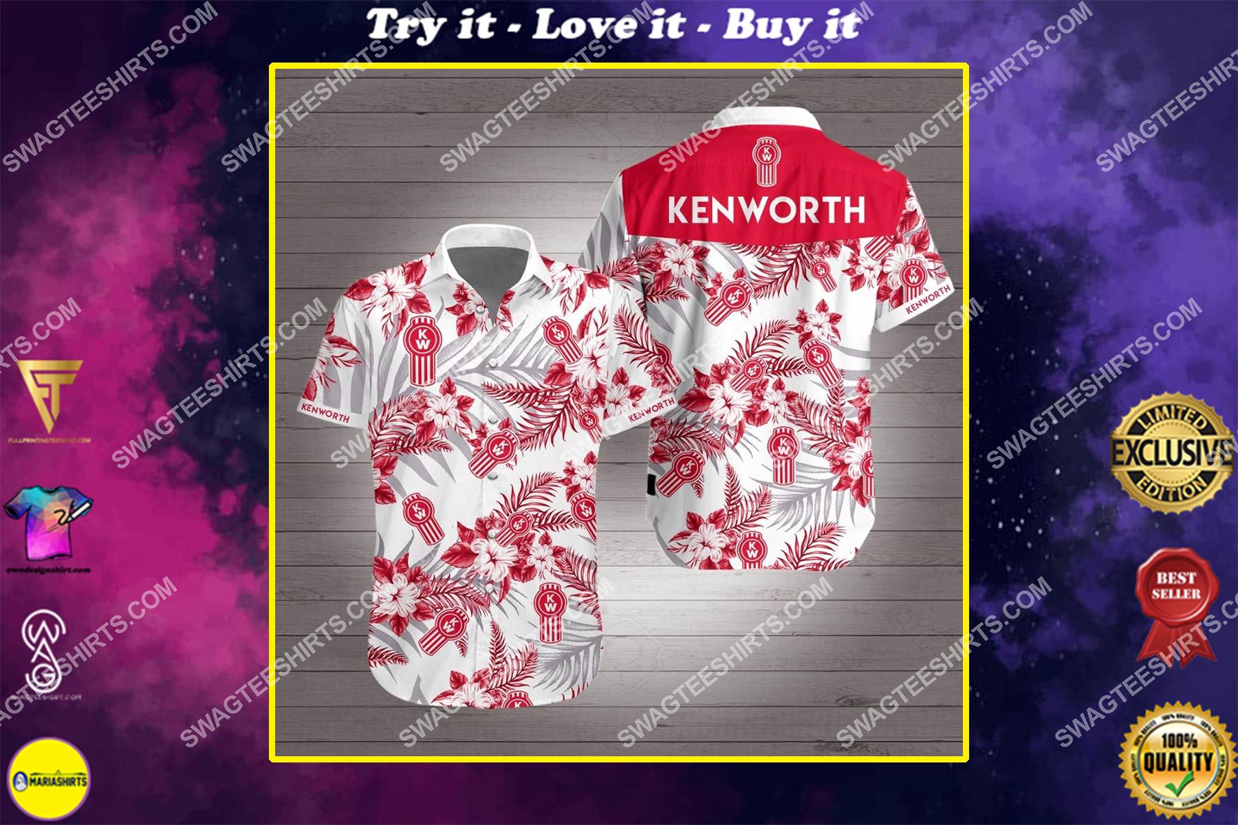tropical kenworth all over print hawaiian shirt