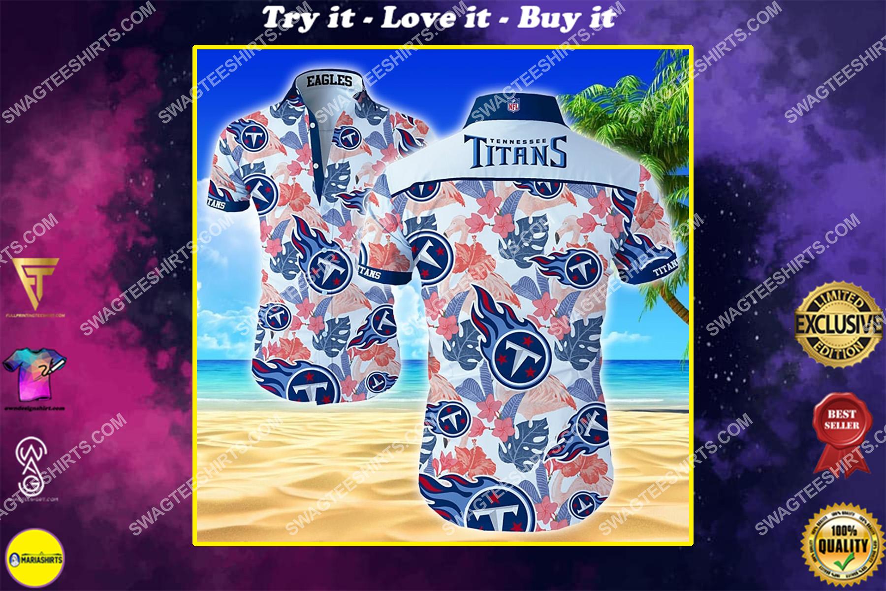 tropical tennessee titans football team hawaiian shirt