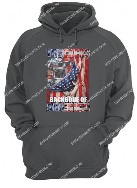 truckers backbone of america american flag happy independence day hoodie 1