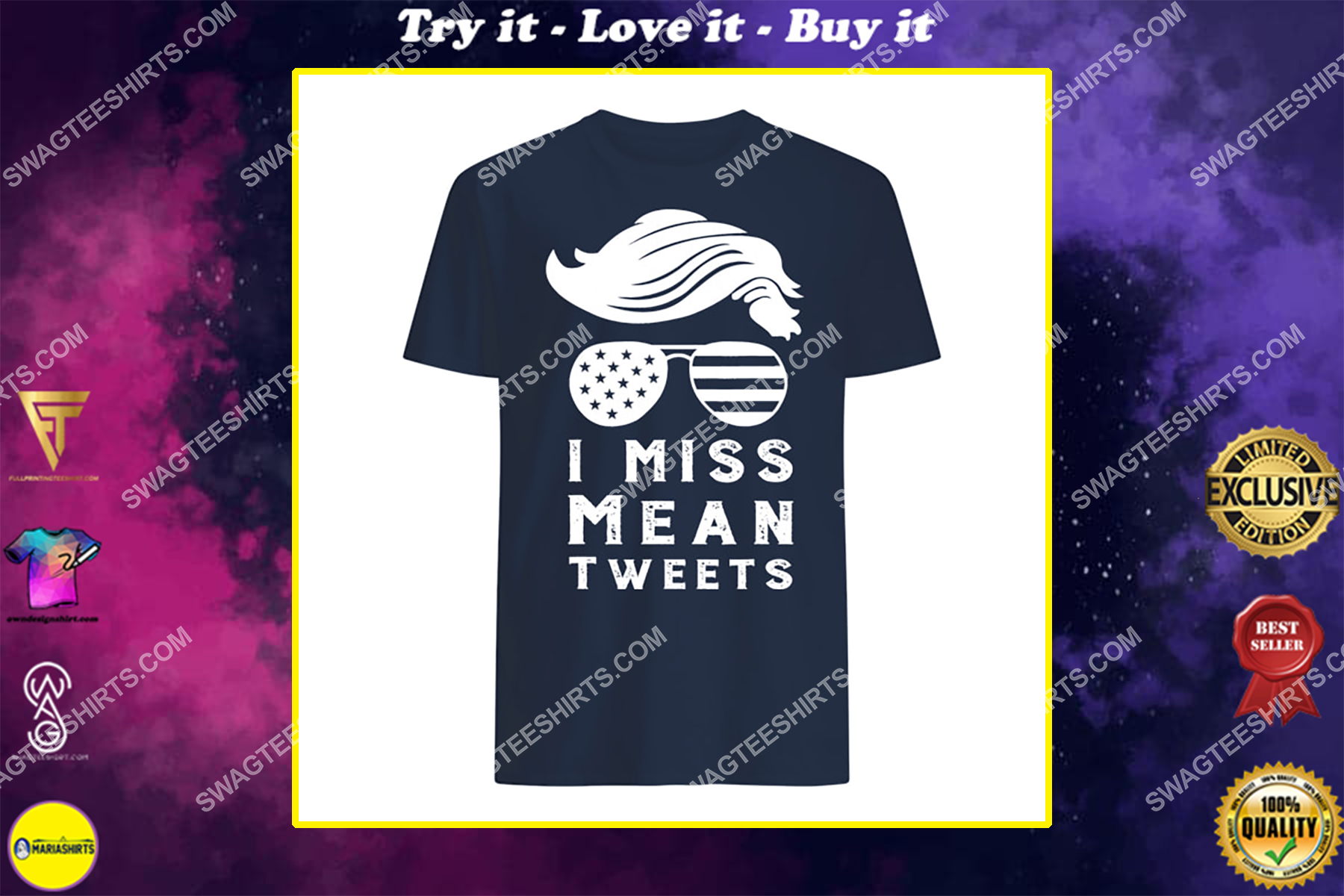 trump father's day gas prices i miss mean tweets july 4th shirt