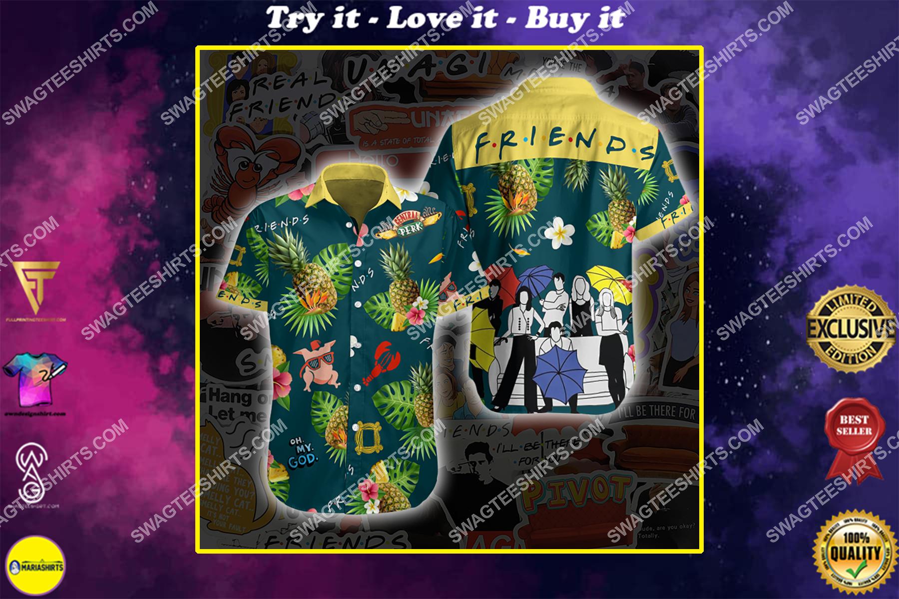 tv series friends all over print hawaiian shirt