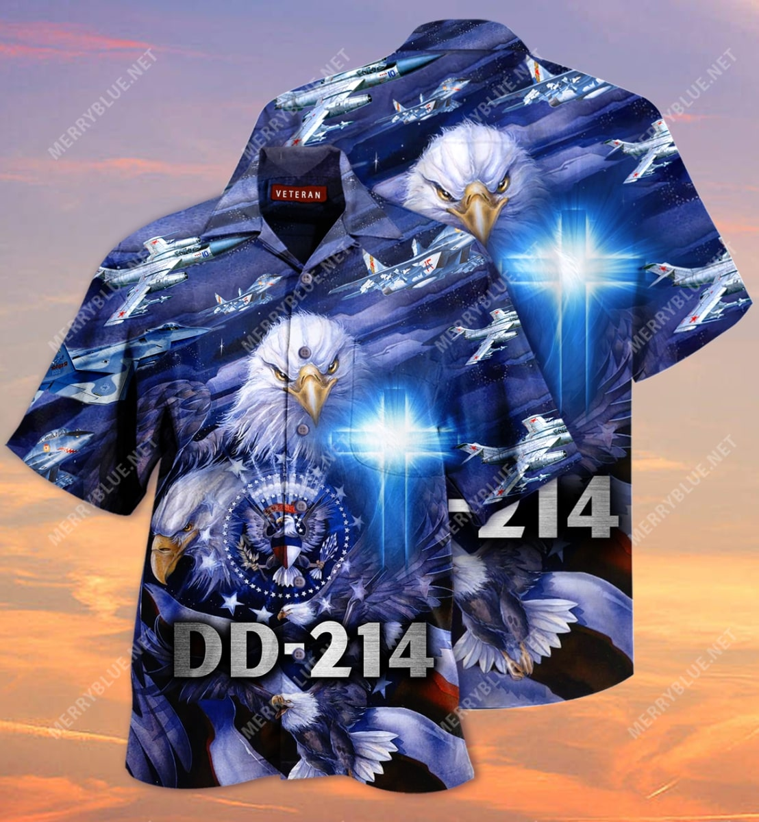 united state veteran on the sky all over printed hawaiian shirt 2