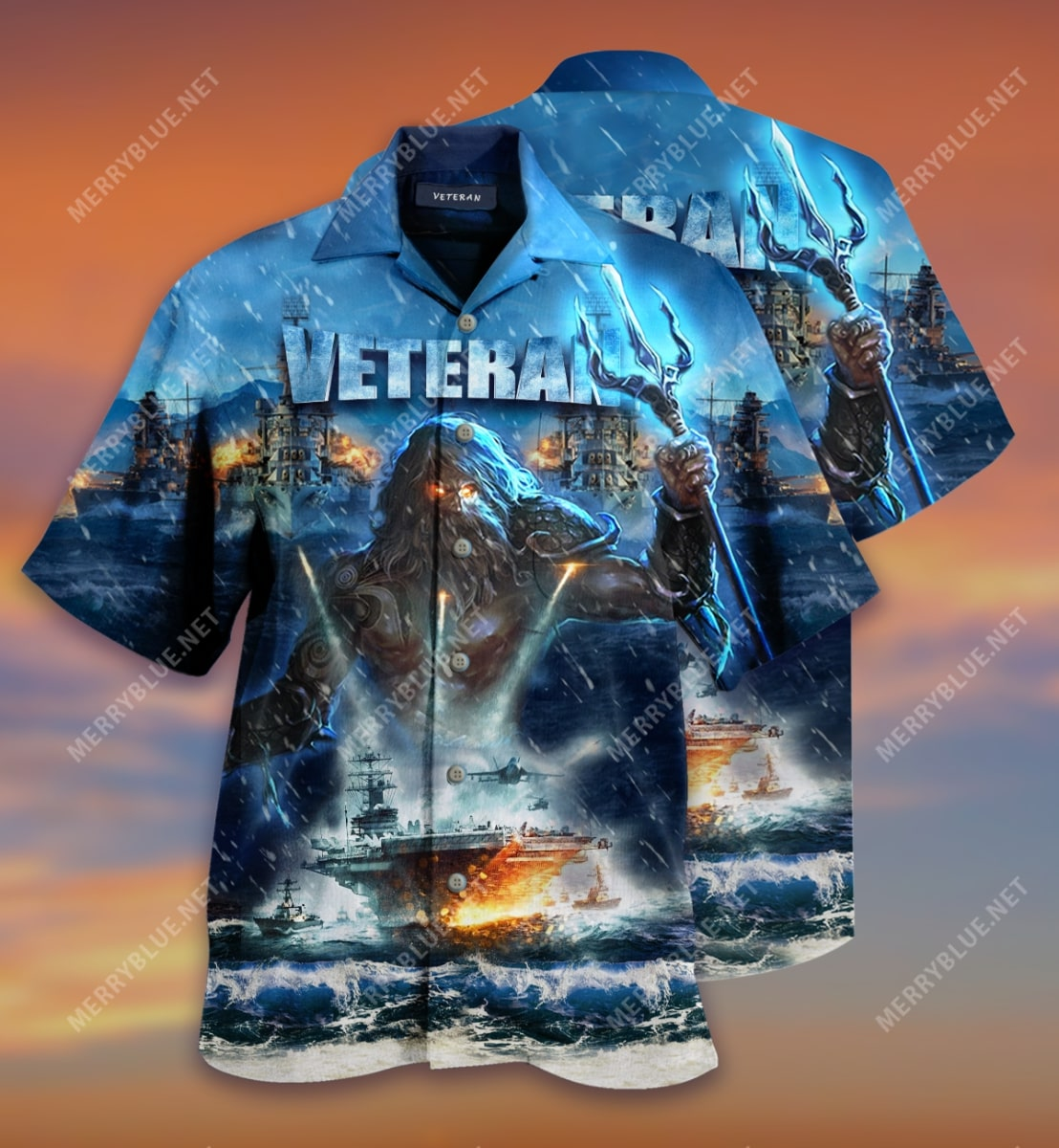 united state veterans on the ocean all over printed hawaiian shirt 2