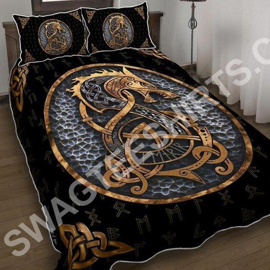 viking dragon all over printed bedding set 2(1)